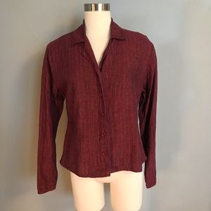 Flax Red Linen Blouse
